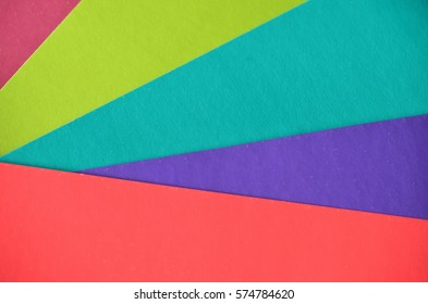 Multicolor background from a paper of different colors