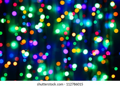 Multicolor bokeh circle background (illumination garland decoration)