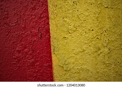 Multicolor cerise, brown and dark goldenrod surface. Kids drawing on the wall surface. Ornament and decoration for holidays.