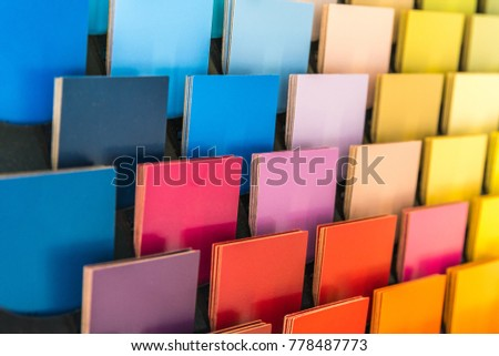 Multicolor Chart On Wall Example Interior Stock Photo Edit Now