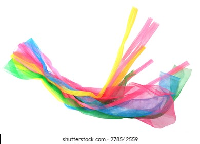 multicolor fabric on white background