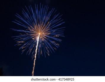Multi-Color Fireworks Background