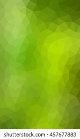 Multicolor green, yellow, orange polygonal illustration, which consist of triangles. Geometric background in Origami style with gradient. Triangular design for your business.