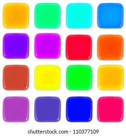 Multicolor icon of honey drop