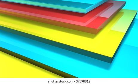 Multicolor Layers (corner view)