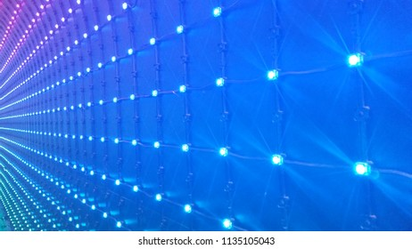 multicolor led lights abstract background