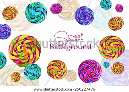 Multicolor Lolipops Background Foto de stock (editar ahora)250227496 ...