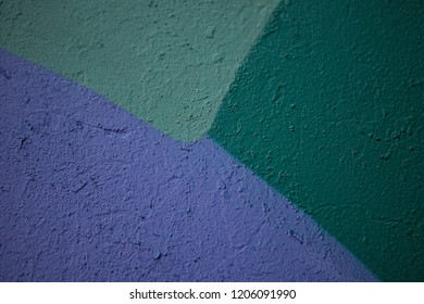 Multicolor midnight, sea green and midnight blue surface. Kids drawing on the wall surface. Ornament and decoration for holidays.