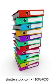 Multicolor office folders