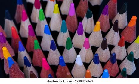 multicolor pencel art drawing creative