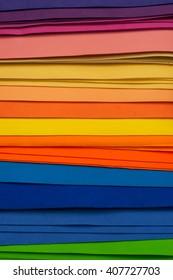 Multicolor pieces of felt