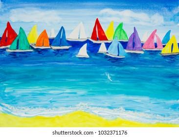 Multicolor regatta one