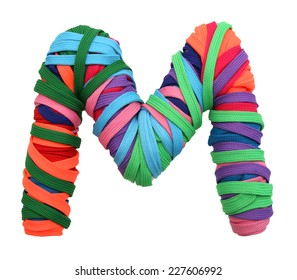 multicolor rope alphabet