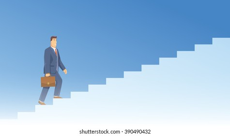Multicolor stock exchange trading set of web banners. Equity market. World economy major trends. Modern flat design. People walking down the stairs.