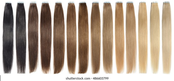 Multicolor straight tape in colorful remy human hair extensions