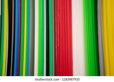 Multicolor stripes of future board in vertical for abstract background.