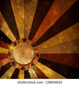 Multicolor Sunbeams grunge background/ A vintage poster