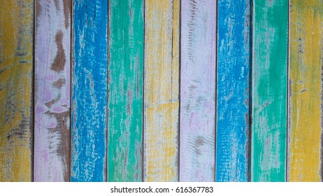 Multicolor wood background , Wooden texture