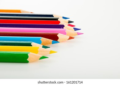 Multicolor wooden pencils