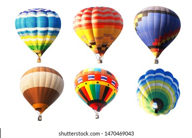 Multicolored balloons on white background