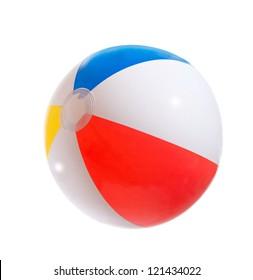 Multicolored beach ball. Isolation.