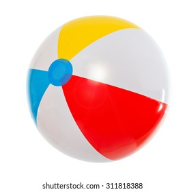 multicolored beach ball. Isolation.series of images