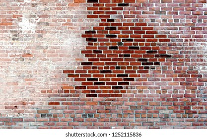 A multicolored brick wall to be used for background.