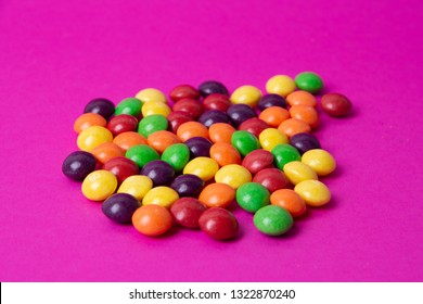 multicolored candy skittles