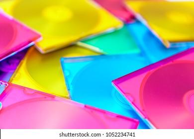 Multi-colored cd cases