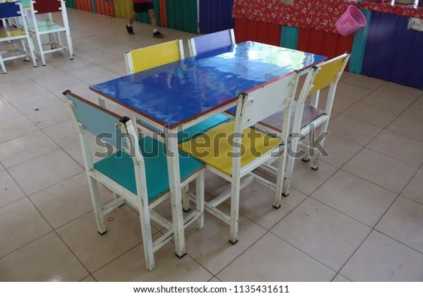 Fine Multicolored Chairs Dining Tables Primary Schools Stock Creativecarmelina Interior Chair Design Creativecarmelinacom