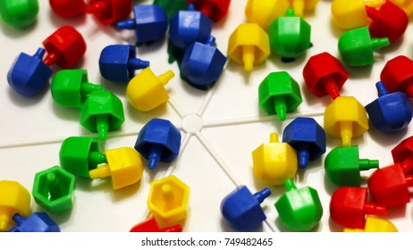 Multicolored children's mosaic. Developing games. Development of logic and motor skills. Game.