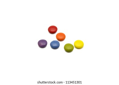 multicolored chocolate candies