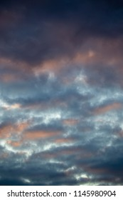 Multicolored clouds at sunset as an abstract background
