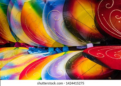 Multi-Colored, Colorful Artificial Butterfly Wings in Tie Dye Colors
