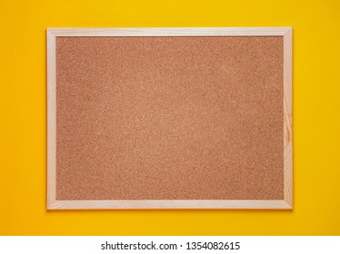multicolored corkboard stickers pinned with buttons. yellow background.