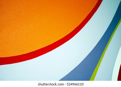 Multicolored Curve on the Wall Image, Background, Wallpaper, Pattern