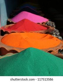 Multi-colored decorative sand