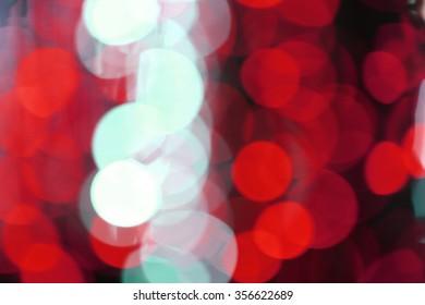 Multicolored de-focused bogey lights background