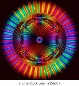 multicolored disk