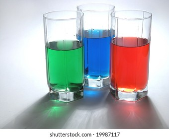 multicolored drinks
