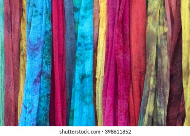 Multicolored fabric with a mottled pattern, texture