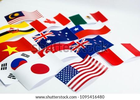 Multicolored Flag Trans Pacific Partnership Tpp Stock Photo Edit