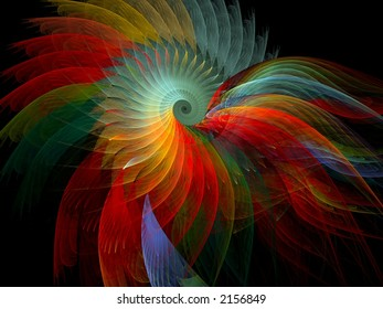 multicolored flame fractal
