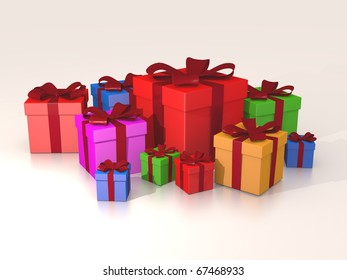 Multicolored Gift Boxes