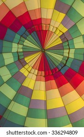 Multi-colored interior a hot air balloon giving abstract background wallpaper