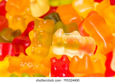 multicolored jelly bears