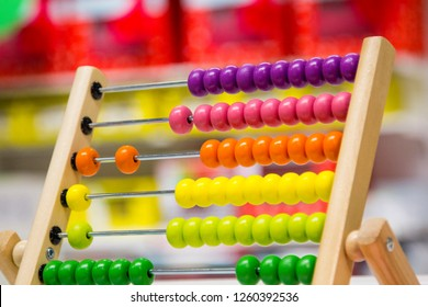 Multi-colored kids abacus