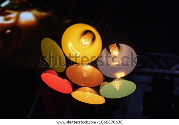 Multicolored lamps with low incandescent lamps