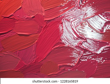 Multicolored lipstic smudge background