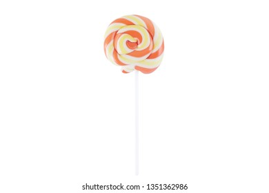 multicolored lollipops on a white background. Isolated candy.